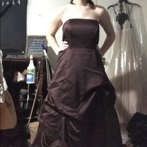 Brown David's Bridal Formal/Prom Gown